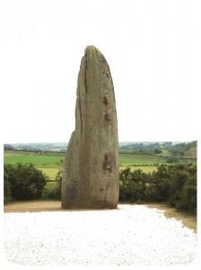 « Menhir de la Bretellière », St Macaire-en-Mauges (49), Pays de la Loire.